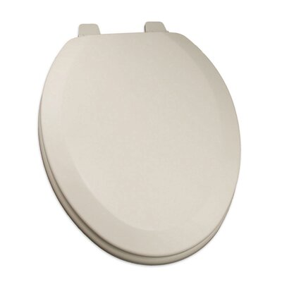Deluxe Molded Wood Elongated Toilet Seat Finish: Biscuit