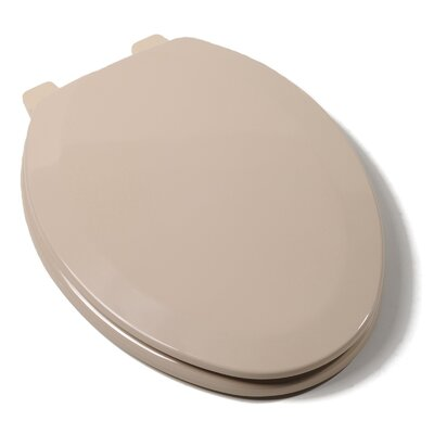 Deluxe Molded Wood Elongated Toilet Seat Finish: Fawn Beige