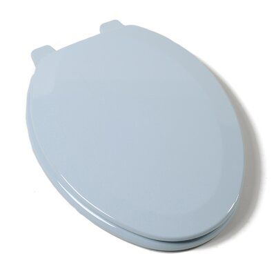 Deluxe Molded Wood Elongated Toilet Seat Finish: Dresden Blue