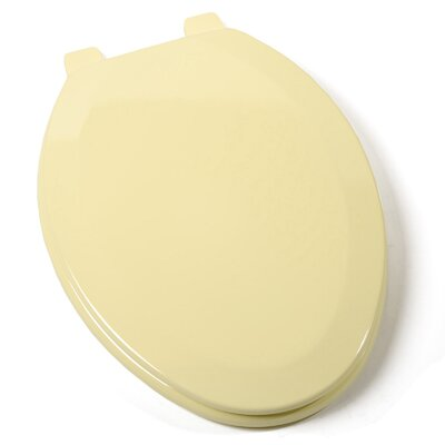 Deluxe Molded Wood Elongated Toilet Seat Finish: Citron Yellow