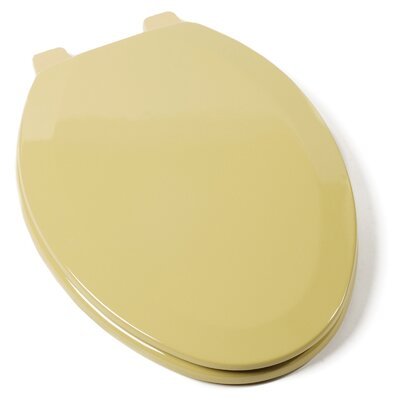 Deluxe Molded Wood Elongated Toilet Seat Finish: Harvest Gold