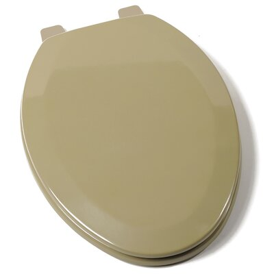 Deluxe Molded Wood Elongated Toilet Seat Finish: Avocado