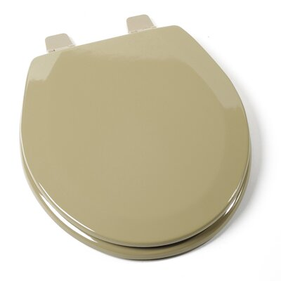 Deluxe Molded Wood Round Toilet Seat Finish: Avocado, Hinge Finish: Plastic