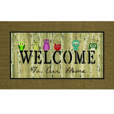 Masterpiece Welcome Owls Doormat