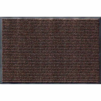 Rib Commercial Doormat Rug Size: Rectangle 3 x 5, Color: Cocoa Brown
