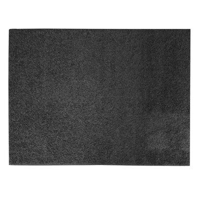 Sherman Black Shag Area Rug Rug Size: Rectangle 5 x 7