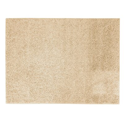 Sherman Cream Shag Area Rug Rug Size: 5 x 7