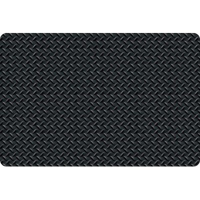 Diamond Foot Anti-Fatigue Doormat Color: Black, Size: 3 x 75