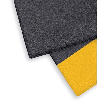Ergo Flex Anti-Fatigue Utility Mat Color: Black with Yellow Border, Size: Rectangle 3 x 60