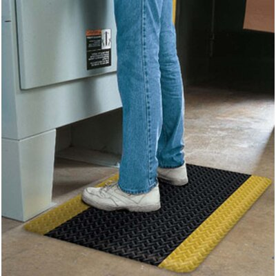 Four Sided Safety Tru Tread Wet Utility Mat Rug Size: 34x44