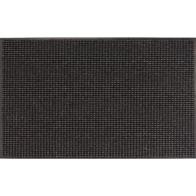 Titusville Doormat Color: Granite, Mat Size: Rectangle 3 x 5