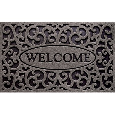 Welcome Design Doormat Color: Graphite