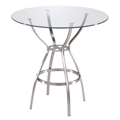 (metal cafe table) Trica Rome Bar Height Dining / Pub Table
