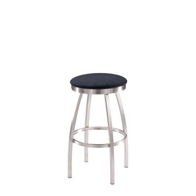 Trica Max Swivel Bar Stool with Cushion - Height: Counter, Comfort Seat: Standard Seat, Seat Finish: Leather - Santiago Slate