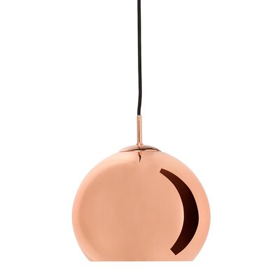 1-Light Globe Pendant Base Color: Copper