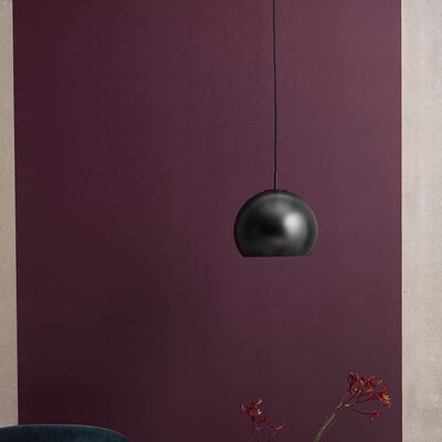 1-Light Globe Pendant Base Color: Matte Black