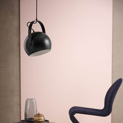 Ball with Handle 1-Light LED Globe Pendant Shade Color: Matte Black