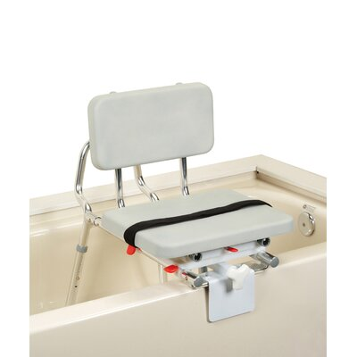 Tub Mount Transfer Bench with Padded Swivel Seat and Back image