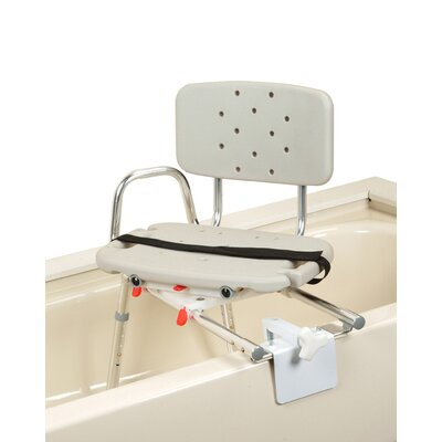 Tub Mount Transfer Bench with Molded Swivel Seat and Back image