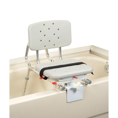 Tub Mount X-Short Transfer Bench with Molded Swivel Seat and Back image