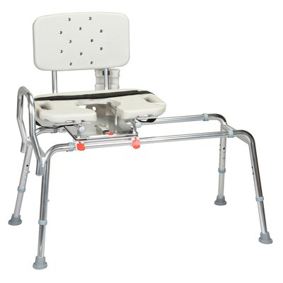 Transfer Bench with Cut-Out Molded Swivel Seat and Back image