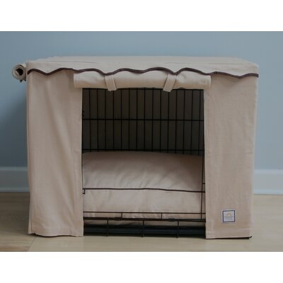 Stone Beige Dog Crate Cover Size: Small