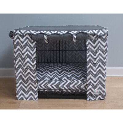 Fair Isle Dog Crate Cover Size: Medium