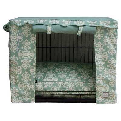 Elegancia Dog Crate Cover Size: Large, Color: Sage