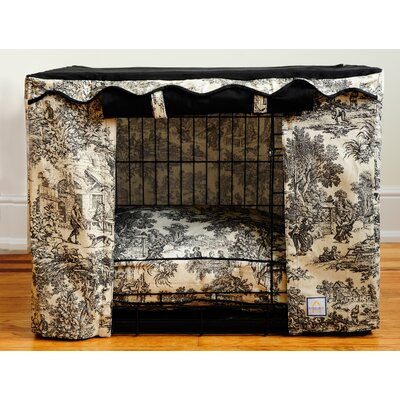 Toile Dog Crate Cover Size: Medium