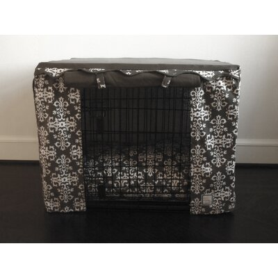 Elegancia Dog Crate Cover Size: Small, Color: Gray