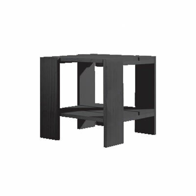 Crate Side Table Finish: Black