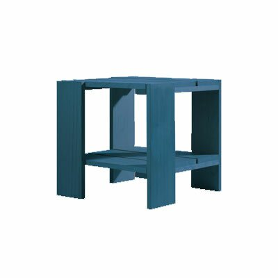 Crate Side Table Finish: Blue