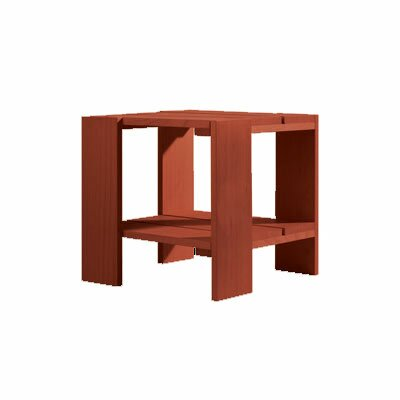 Crate Side Table Finish: Red