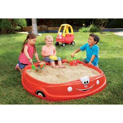Cozy Coupe 4.17' Rectangular Sandbox