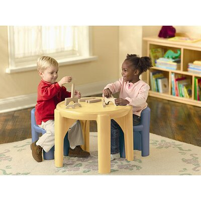 Little Tikes Kids 3 Piece Table and Chair Set - Color: Pottery Yellow and Blue at Sears.com