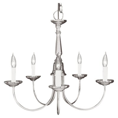 Cloverfield 5-Light Indoor Candle-Style Chandelier