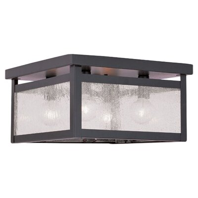 Brundidge 4-Light Flush Mount Glass Type: Seeded Glass