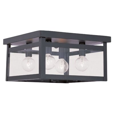 Brundidge 4-Light Flush Mount Glass Type: Clear Glass