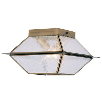 Cynda 2-Light Flush Mount Finish: Antique Brass