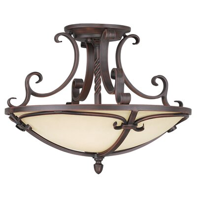 Millburn Manor Semi Flush Mount