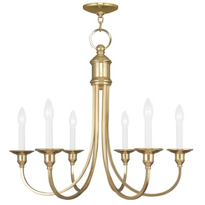 Eckard 6-Light Candle-Style Chandelier Finish: Polished Brass