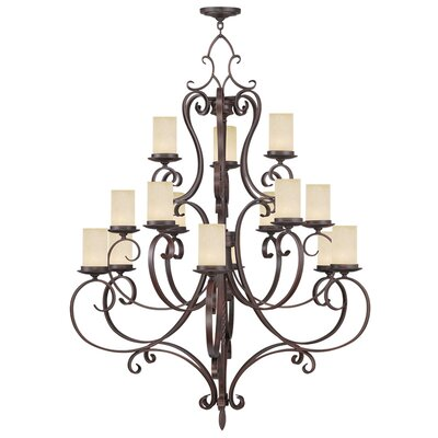 Bressler 15-Light Shaded Chandelier