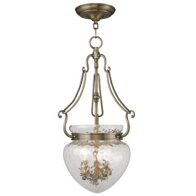 Braidwood Foyer Pendant Size: 22 H x 12 W x 12 D, Color: Brushed Nickel
