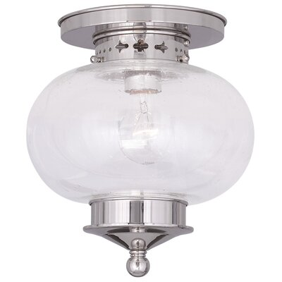 Shielo 1-Light Semi Flush Mount Finish: Polished Nickel