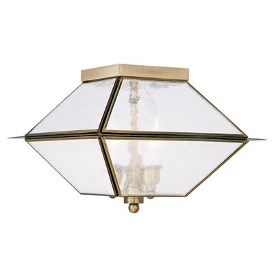 Cynda 3-Light Flush Mount Finish: Antique Brass