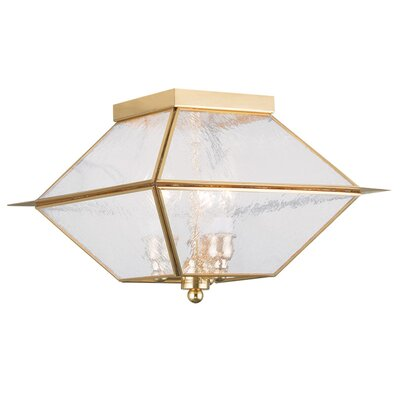 Cynda 3-Light Flush Mount Finish: Polished Brass