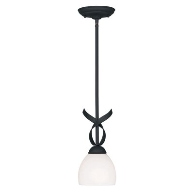 Whittaker 1-Light Mini Pendant Finish: Black