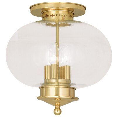 Harbor Semi Flush Mount Finish: Polished Brass