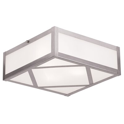 Cena 1-Light Flush Mount Size: 4 H x 11 W x 11 D