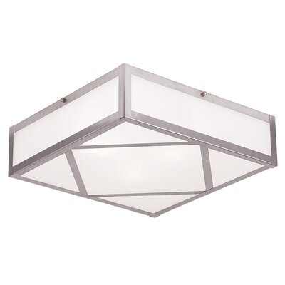 Viper 1-Light Flush Mount Size: 4 H x 14 W x 14 D